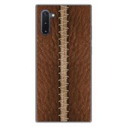 Funda Gel Tpu para Samsung Galaxy Note10 diseño Cuero 01 Dibujos