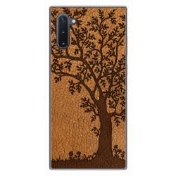 Funda Gel Tpu para Samsung Galaxy Note10 diseño Cuero 03 Dibujos