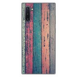 Funda Gel Tpu para Samsung Galaxy Note10 diseño Madera 10 Dibujos