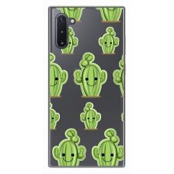 Funda Gel Transparente para Samsung Galaxy Note10 diseño Cactus Dibujos