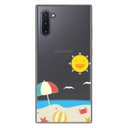 Funda Gel Transparente para Samsung Galaxy Note10 diseño Playa Dibujos