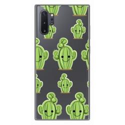 Funda Gel Transparente para Samsung Galaxy Note10+ diseño Cactus Dibujos
