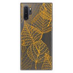 Funda Gel Transparente para Samsung Galaxy Note10+ diseño Hojas Dibujos