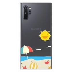 Funda Gel Transparente para Samsung Galaxy Note10+ diseño Playa Dibujos