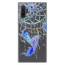 Funda Gel Transparente para Samsung Galaxy Note10+ diseño Plumas Dibujos