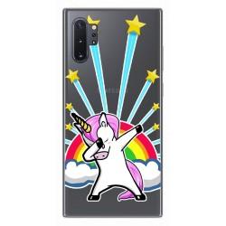 Funda Gel Transparente para Samsung Galaxy Note10+ diseño Unicornio Dibujos