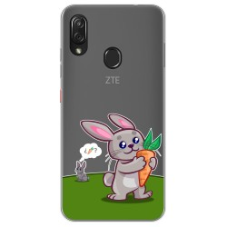 Funda Gel Transparente para Zte Blade V10 vita / Orange Neva Play diseño Conejo Dibujos