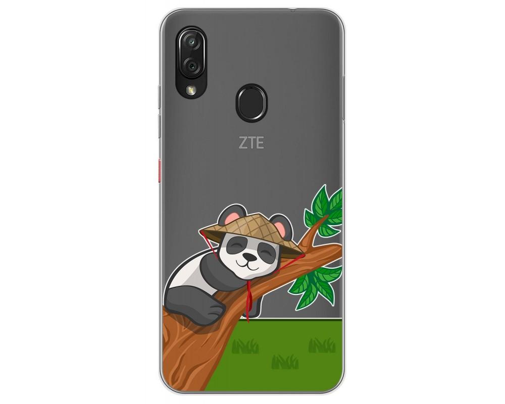 Funda Gel Transparente para Zte Blade V10 vita / Orange Neva Play diseño Panda Dibujos