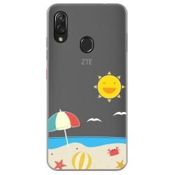 Funda Gel Transparente para Zte Blade V10 vita / Orange Neva Play diseño Playa Dibujos