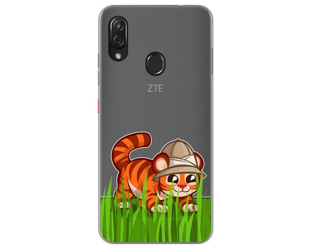 Funda Gel Transparente para Zte Blade V10 vita / Orange Neva Play diseño Tigre Dibujos