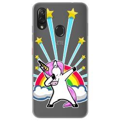 Funda Gel Transparente para Zte Blade V10 vita / Orange Neva Play diseño Unicornio Dibujos