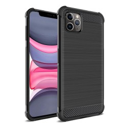 Funda Gel Tpu Anti-Shock Carbon Negra para Iphone 11 Pro Max (6.5)