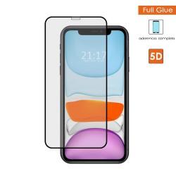 Protector Cristal Templado Completo 5D Full Glue Negro para Iphone 11 (6.1) Vidrio