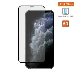 Protector Cristal Templado Completo 5D Full Glue Negro para Iphone 11 Pro Max (6.5) Vidrio
