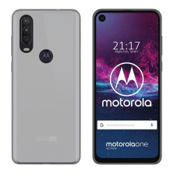 Funda Gel Tpu para Motorola One Action Color Transparente