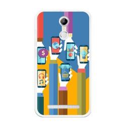 Funda Gel Tpu para Homtom H17 / H17 Pro Diseño Apps Dibujos