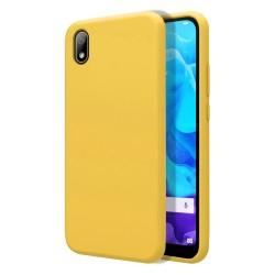 Funda Silicona Líquida Ultra Suave para Huawei Y5 2019 color Amarilla