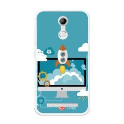 Funda Gel Tpu para Homtom H17 / H17 Pro Diseño Cohete Dibujos