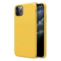 Funda Silicona Líquida Ultra Suave para Iphone 11 Pro Max (6.5) color Amarilla