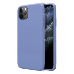 Funda Silicona Líquida Ultra Suave para Iphone 11 Pro Max (6.5) color Azul Celeste