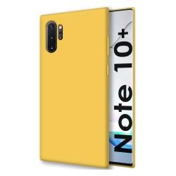 Funda Silicona Líquida Ultra Suave para Samsung Galaxy Note10+ color Amarilla