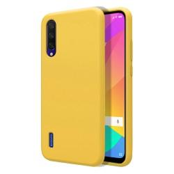 Funda Silicona Líquida Ultra Suave para Xiaomi Mi 9 Lite color Amarilla
