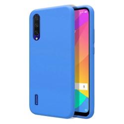 Funda Silicona Líquida Ultra Suave para Xiaomi Mi 9 Lite color Azul Celeste