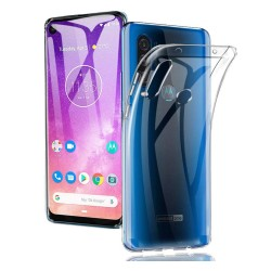 Funda Gel Tpu Fina Ultra-Thin 0,5mm Transparente para Motorola One Action