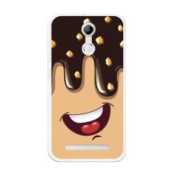 Funda Gel Tpu para Homtom H17 / H17 Pro Diseño Helado Chocolate Dibujos