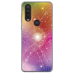 Funda Gel Tpu para Motorola One Action diseño Abstracto Dibujos