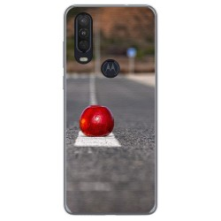 Funda Gel Tpu para Motorola One Action diseño Apple Dibujos