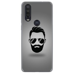 Funda Gel Tpu para Motorola One Action diseño Barba Dibujos