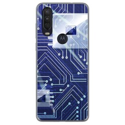 Funda Gel Tpu para Motorola One Action diseño Circuito Dibujos
