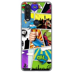 Funda Gel Tpu para Motorola One Action diseño Comic Dibujos