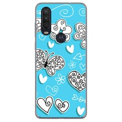Funda Gel Tpu para Motorola One Action diseño Mariposas Dibujos