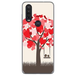 Funda Gel Tpu para Motorola One Action diseño Pajaritos Dibujos