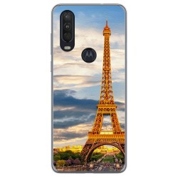 Funda Gel Tpu para Motorola One Action diseño Paris Dibujos