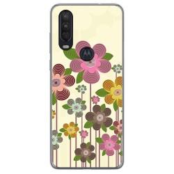 Funda Gel Tpu para Motorola One Action diseño Primavera En Flor Dibujos