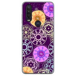 Funda Gel Tpu para Motorola One Action diseño Radial Dibujos