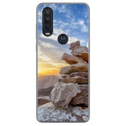 Funda Gel Tpu para Motorola One Action diseño Sunset Dibujos