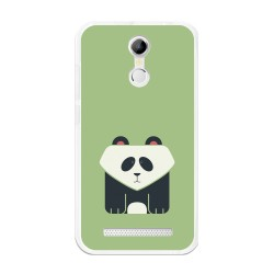 Funda Gel Tpu para Homtom H17 / H17 Pro Diseño Panda Dibujos
