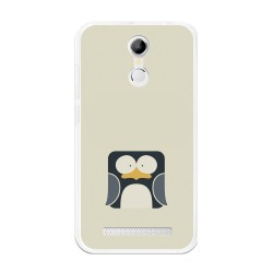 Funda Gel Tpu para Homtom H17 / H17 Pro Diseño Pingüino Dibujos
