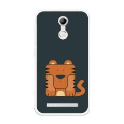 Funda Gel Tpu para Homtom H17 / H17 Pro Diseño Tigre Dibujos