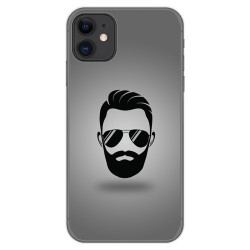 Funda Gel Tpu para Iphone 11 (6.1) diseño Barba Dibujos