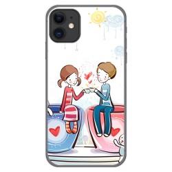 Funda Gel Tpu para Iphone 11 (6.1) diseño Café Dibujos