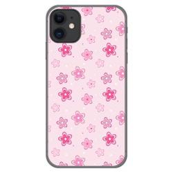 Funda Gel Tpu para Iphone 11 (6.1) diseño Flores Dibujos