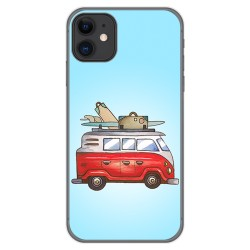 Funda Gel Tpu para Iphone 11 (6.1) diseño Furgoneta Dibujos