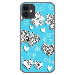 Funda Gel Tpu para Iphone 11 (6.1) diseño Mariposas Dibujos