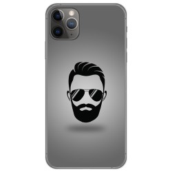 Funda Gel Tpu para Iphone 11 Pro (5.8) diseño Barba Dibujos