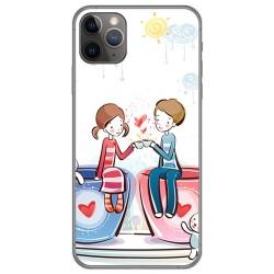 Funda Gel Tpu para Iphone 11 Pro (5.8) diseño Café Dibujos